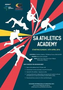 Athletics Academy Flyer A4