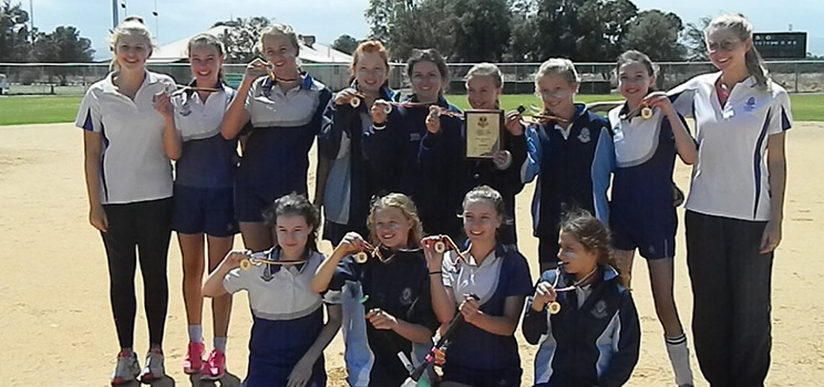 Our triumphant year 6/7 State Champion softball team