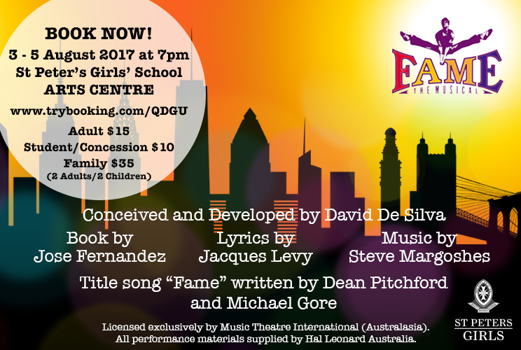 FAME - The Musical BANNER - St Peter's Girls' School